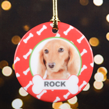 Dog Bone Personalized Photo Ornament