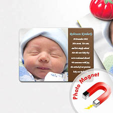 Personalized I Am A Boy Coco Birth Announcement Photo Magnet
