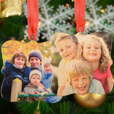 Personalized Wooden Photo Whimsical Ornament