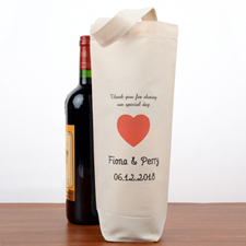 Wedding Party Personalized Wine Cotton Tote Bag
