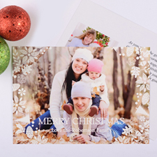 White Christmas Personalized Photo Card
