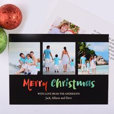Painted Christmas Personalized Photo Card