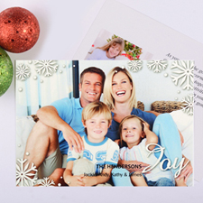 Script Joy Personalized Photo Christmas Card