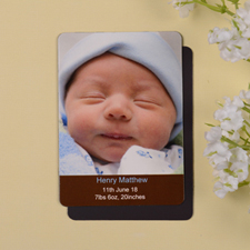 Personalized Meet Mr Coco Birth Announcement Photo Magnet