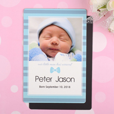 Little Man Personalized Birth Announcement Photo Magnet 4x6 Large