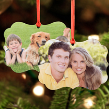 Personalized Photo Metal Ornament Ornate 3