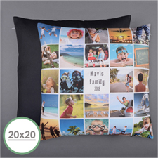 Instagram White Personalized 24 Collage Photo Pillow 20X20  Cushion (No Insert)
