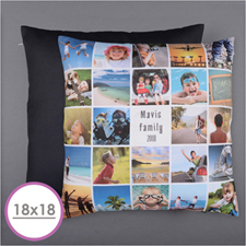 Instagram White Personalized 24 Collage Photo Pillow 18X18  Cushion (No Insert)