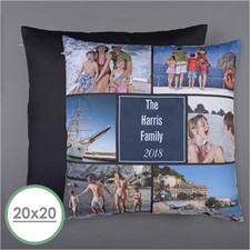 Personalized Six Collage Photo Pillow 20X20  Cushion (No Insert)