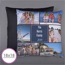 Personalized Six Collage Photo Pillow 18X18  Cushion (No Insert)