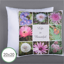 Personalized 8 Collage Photo Pillow 20X20  Cushion (No Insert)