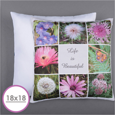 Personalized 8 Collage Photo Pillow 18X18  Cushion (No Insert)