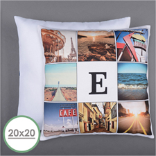 Instagram Personalized 8 Collage Photo Pillow 20X20  Cushion (No Insert)