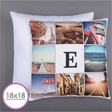 Instagram Personalized 8 Collage Photo Pillow 18X18  Cushion (No Insert)