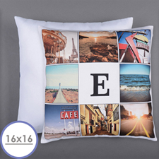 Instagram Personalized 8 Collage Photo Pillow 16