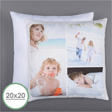 Personalized 4 Collage Photo Pillow 20X20  Cushion (No Insert)