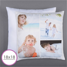 Personalized 4 Collage Photo Pillow 18X18  Cushion (No Insert)