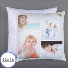 Personalized 4 Collage Photo Pillow 16