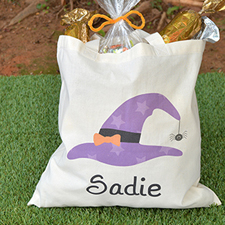 Star Witch Hat Personalized Halloween Trick Or Treat Bag
