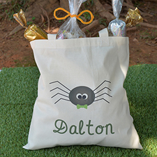 Spider Personalized Halloween Trick Or Treat Bag For Boy