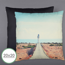20 X 20 All Over Print Pillow (Black Back)  Cushion (No Insert)