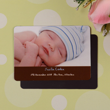 Personalized Hello Girl Coco Birth Announcement Photo Magnet