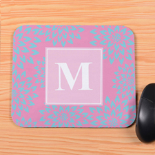 Pink Blooms Personalized Mousepad