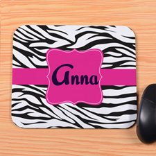 Black Zebra Personalized Mousepad