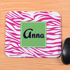 Pink Zebra Personalized Mousepad