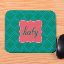 Green Square Personalized Mousepad