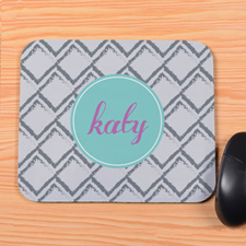 Grey Square Personalized Mousepad