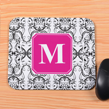 White Vintage Personalized Mousepad