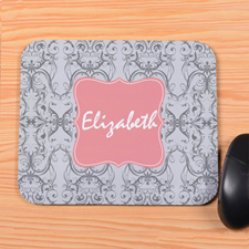 Grey Vintage Personalized Mousepad