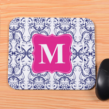 Navy Vintage Personalized Mousepad