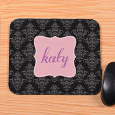Black Vintage Personalized Mousepad