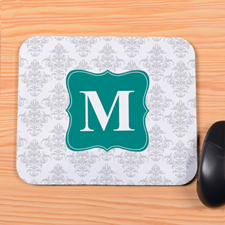Silver Vintage Personalized Mousepad