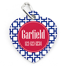 Navy Cross Personalized Pet Tag Heart Shape
