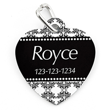 Vintage Personalized Pet Tag Heart Shape