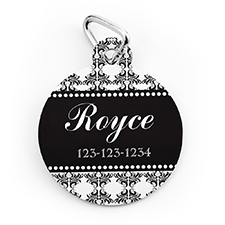 Vintage Personalized Pet Tag Round Shape