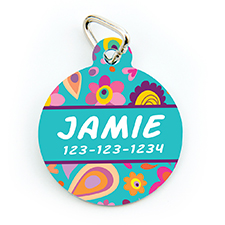 Spring Personalized Pet Tag Round Shape