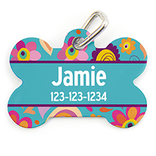 Spring Personalized Dog Tag Bone Shape