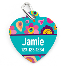Spring Personalized Pet Tag Heart Shape