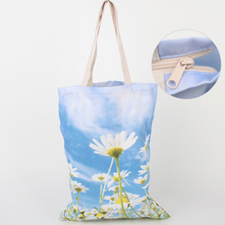All Over Print Tote Bag With Zipper 17.5X13.5