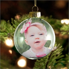 Personalized Photo Glass Ball Ornament