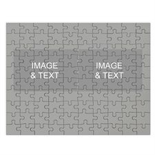 Two Collage Photo Puzzle, Silver Grey