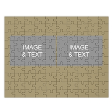 Two Collage Photo Puzzle, Timeless Gold