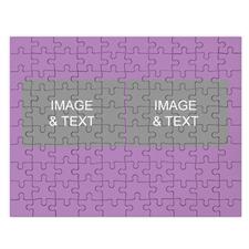 Two Collage Photo Puzzle, Baby Purple