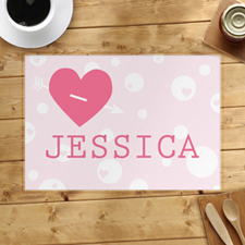 Love Arrow Personalized Placemat