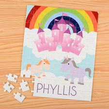Unicorn Personalized Name Kids Puzzle, 8X10
