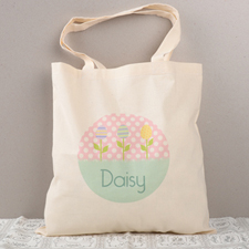 Easter Egg Tree Personalized Tote For Kids